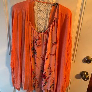 Cute Cardigan (3X) and Tank Style Top (4X)
